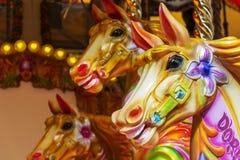Άλογο ιπποδρομίων - funfair γύρος διασκέδασης Στοκ Φωτογραφία