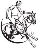 Άλογο και φορέας πόνι πόλο Ίππεια αθλητική λέσχη απεικόνιση αποθεμάτων