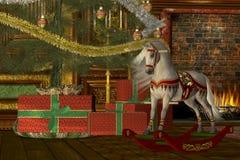 Άλογο λικνίσματος Χριστουγέννων Στοκ φωτογραφία με δικαίωμα ελεύθερης χρήσης