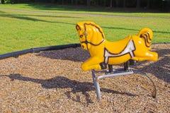Άλογο παιδικών χαρών Στοκ Εικόνες