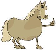 άλογο πουλιών Στοκ εικόνα με δικαίωμα ελεύθερης χρήσης