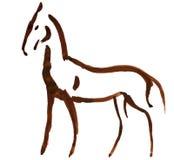 άλογο που σκιαγραφείται Στοκ Φωτογραφία