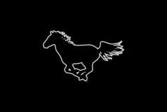 άλογο πυράκτωσης διανυσματική απεικόνιση