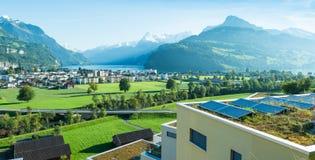 Άλπεις και λίμνη Λουκέρνη Πόλη Brunnen στοκ φωτογραφίες με δικαίωμα ελεύθερης χρήσης