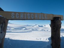 Άλπεις το χειμώνα στην Αυστρία Στοκ Φωτογραφίες