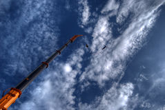 άλτης bungee hdr Στοκ Φωτογραφία