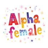 Άλφα θηλυκό στοκ φωτογραφία με δικαίωμα ελεύθερης χρήσης