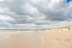 Άμμοι κυρτώματος, κύρτωμα: αμμόλοφοι και η παραλία Στοκ Φωτογραφία