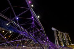 Άμμοι κόλπων μαρινών και γέφυρα ελίκων στοκ φωτογραφίες με δικαίωμα ελεύθερης χρήσης