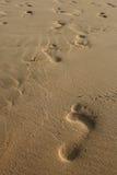 άμμος ίχνους Στοκ εικόνες με δικαίωμα ελεύθερης χρήσης