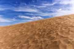 Άμμος αμμόλοφων ερήμων σε Maspalomas Στοκ εικόνες με δικαίωμα ελεύθερης χρήσης