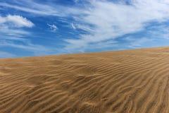 Άμμος αμμόλοφων ερήμων σε Maspalomas Στοκ Εικόνες
