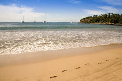 άμμος βημάτων παραλιών Στοκ φωτογραφία με δικαίωμα ελεύθερης χρήσης