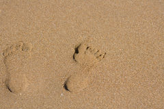άμμος βημάτων Στοκ φωτογραφίες με δικαίωμα ελεύθερης χρήσης
