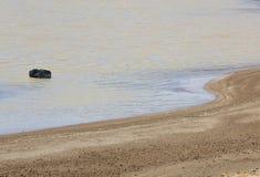 άμμος βράχου παραλιών zen Στοκ εικόνα με δικαίωμα ελεύθερης χρήσης