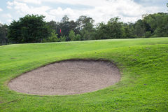άμμος γκολφ σειράς μαθημάτων αποθηκών Στοκ Εικόνες