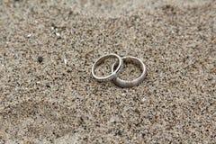 άμμος δαχτυλιδιών στοκ φωτογραφίες με δικαίωμα ελεύθερης χρήσης