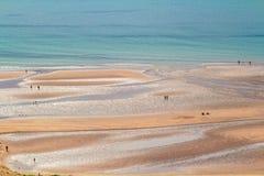 Άμμος, θάλασσα, άνθρωποι Στοκ Εικόνα