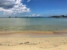 Άμμος & θάλασσα Στοκ Φωτογραφίες