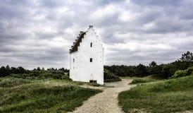 Άμμος-θαμμένη εκκλησία, Skagen, Γιουτλάνδη, Δανία στοκ εικόνα με δικαίωμα ελεύθερης χρήσης