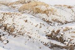 Άμμος κάτω από το χιόνι Στοκ Εικόνα