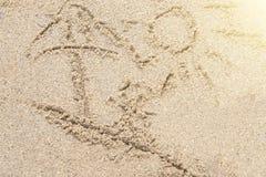 Άμμος και ήλιος Στοκ Εικόνες