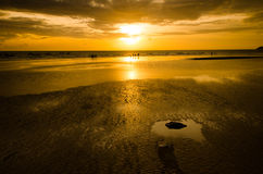 Άμμος και ηλιοβασίλεμα Στοκ φωτογραφία με δικαίωμα ελεύθερης χρήσης