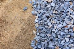 Άμμος και πέτρα για τη οικοδομή στοκ εικόνες