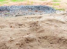 Άμμος και πέτρα Στοκ εικόνες με δικαίωμα ελεύθερης χρήσης