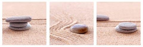 Άμμος και πέτρες της Zen Στοκ φωτογραφία με δικαίωμα ελεύθερης χρήσης