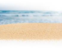 Άμμος και ωκεανός Στοκ Φωτογραφία