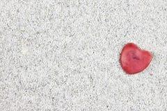 άμμος καρδιών Στοκ εικόνα με δικαίωμα ελεύθερης χρήσης