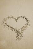 άμμος καρδιών Στοκ Εικόνα