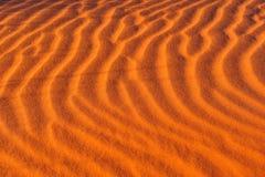 άμμος κυματώσεων προτύπων Στοκ Εικόνα