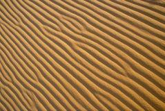 άμμος κυματώσεων προτύπων Στοκ εικόνα με δικαίωμα ελεύθερης χρήσης