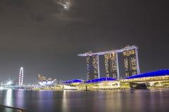 Άμμος κόλπων μαρινών εικονικής παράστασης πόλης της Σιγκαπούρης Στοκ φωτογραφίες με δικαίωμα ελεύθερης χρήσης