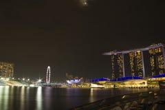 Άμμος κόλπων μαρινών εικονικής παράστασης πόλης της Σιγκαπούρης Στοκ εικόνα με δικαίωμα ελεύθερης χρήσης