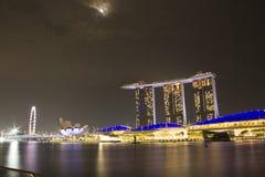 Άμμος κόλπων μαρινών εικονικής παράστασης πόλης της Σιγκαπούρης Στοκ Φωτογραφίες