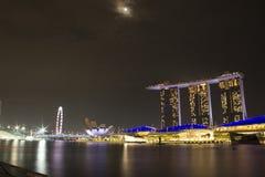 Άμμος κόλπων μαρινών εικονικής παράστασης πόλης της Σιγκαπούρης Στοκ Φωτογραφία