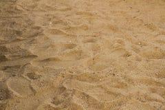 Άμμος με τα βήματα Στοκ φωτογραφία με δικαίωμα ελεύθερης χρήσης