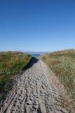 άμμος μονοπατιών παραλιών στοκ φωτογραφία με δικαίωμα ελεύθερης χρήσης