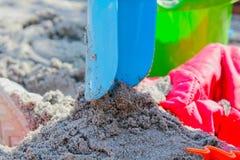 άμμος παιχνιδιού παιδιών Στοκ Φωτογραφία