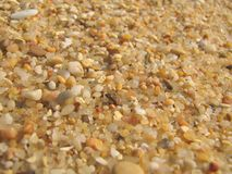 άμμος παραλιών Στοκ εικόνες με δικαίωμα ελεύθερης χρήσης