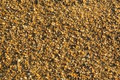 Άμμος παραλιών θάλασσας με τη σύσταση χαλικιών Φύση Στοκ Φωτογραφία
