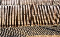 άμμος περιφραγμάτων παραλιών στοκ εικόνες
