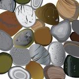 Άμμος πετρών θάλασσας στο άσπρο υπόβαθρο Στοκ Φωτογραφία