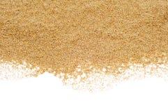 Άμμος σε ένα άσπρο υπόβαθρο Στοκ φωτογραφία με δικαίωμα ελεύθερης χρήσης