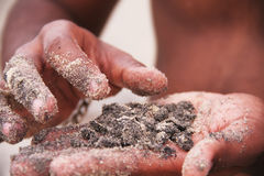 Άμμος στη διάθεση Στοκ εικόνα με δικαίωμα ελεύθερης χρήσης
