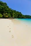 Άμμος της νότιας θάλασσας στην Ταϊλάνδη Στοκ Φωτογραφία
