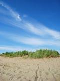 άμμος χλόης σύννεφων Στοκ Φωτογραφία